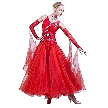 JTSYUXN V-Cuello del Vestido Sin Mangas De La Danza De Salón De ...