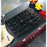GE JGP940BEKBB Profile 30 Black Gas Sealed Burner Cooktop