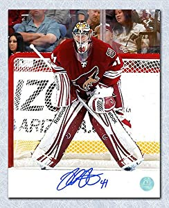 Mike Smith Arizona Coyotes Autographed Goalie 8x10 Photo - Autographed Hockey Photos