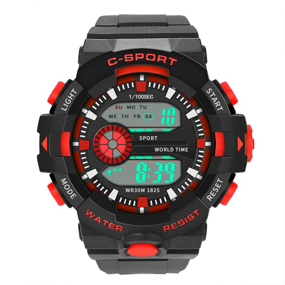 Digital Watches for Men DYTA LED Sport Wrist Watches 5ATM Water Resistant Outdoor Watch Military Quartz Watchs with Rubber Strap Silicone Case Relojes De ...