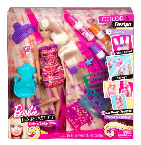 Barbie Hairtastic Color And Design Salon Barbie Doll Buy Online In Uae Toy Products In The