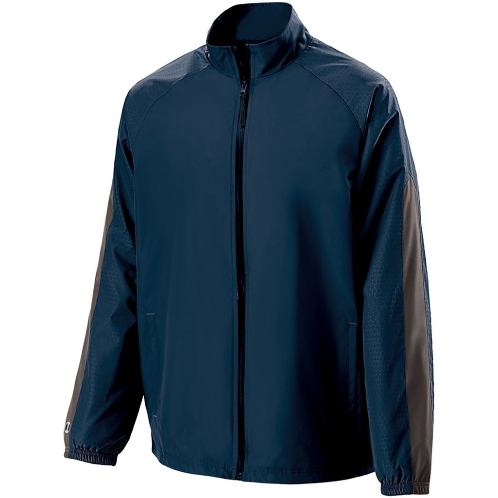 Holloway Youth Bionic Jacket (Large, Navy/Carbon) by Holloway