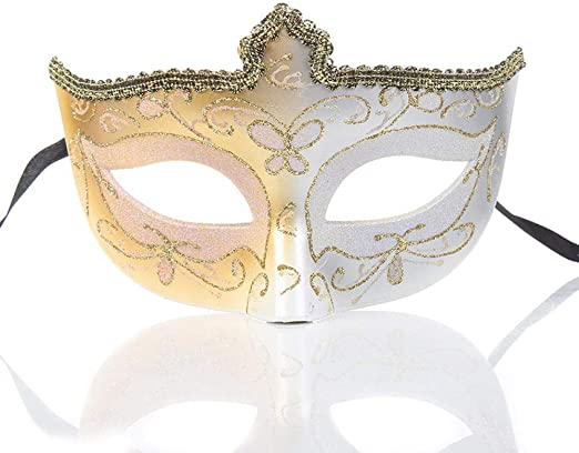 ZPYHJS mascaras venecianas Mujer,Máscara de Media Cara de niña de ...