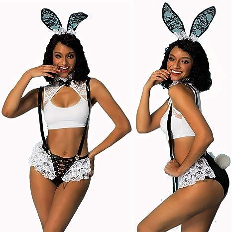 HJG Disfraz de Cosplay de conejita para Mujer, Traje de Conejo ...