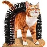 bluelemon アーチ ブラシ グルーミング スリスリ猫用 おもちゃ 取り外し可能 毛づくろい お手入れ 爪研ぎ 爪磨き