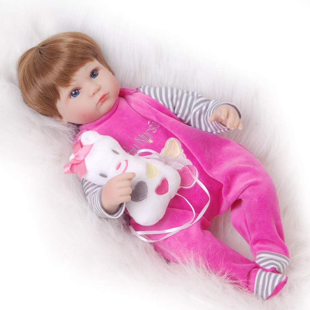 Muñecos Bebé 42 Cm Muñecas Para Dormir Reborn Baby Cuerpo Completo De Silicona Suave Renacer Muñeca De Vinilo Suave Realista Bebé Recién Nacido Imán De La Muñeca Chupete Regalo De Bebé: Amazon.es: