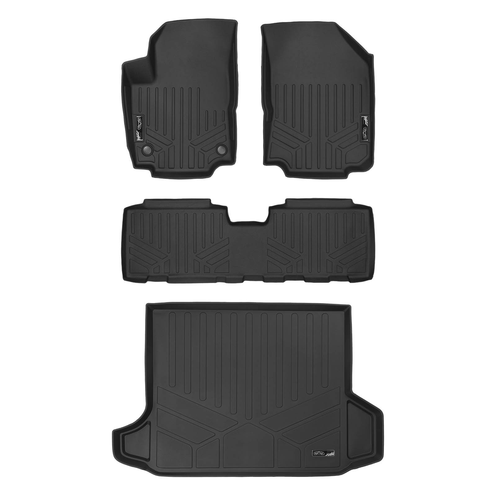 MAX LINER A0310/B0310/D0310 Custom Fit Floor Mats 2 Rows and Cargo Liner Black for 2018-2019 Chevrolet Equinox