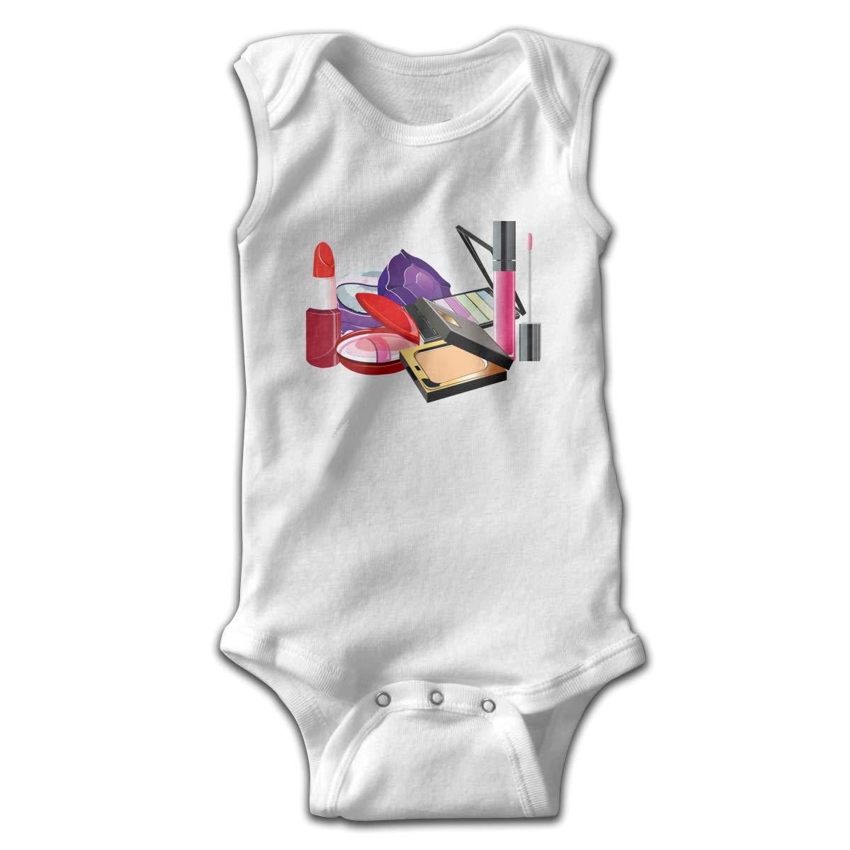 Efbj Newborn Baby Boys Rompers Sleeveless Cotton Jumpsuit,Lipstick Bodysuit Autumn Pajamas