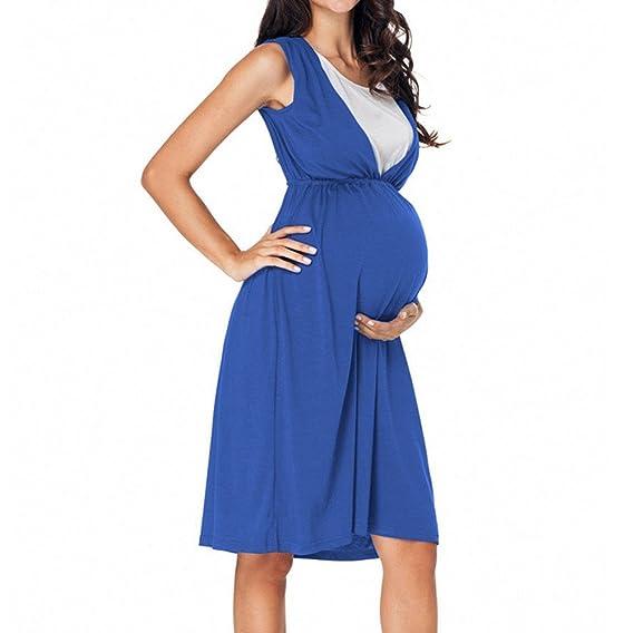 ALIKEEY Cintura Alta Mini Túnica Vestido Mujer Embarazada Chaleco De Verano Vestido De Maternidad Foto Vestido