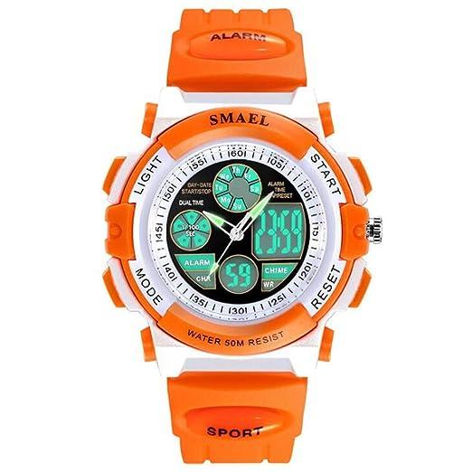 Relojes Niños, niñas y niñas, Impermeable, luz Nocturna, Deportes, Reloj electrónico, Reloj para niñas, C: Amazon.es: Relojes