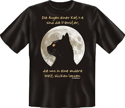 Camiseta de - los ojos de gato son Ventana - divertido ...
