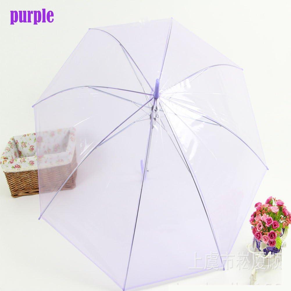 PanDaDa Dome Shape Clear Transparent Rain Umbrella Brolly B1
