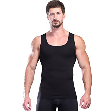 627d9b9855339 TiTARR Strong Men Body Shaper Compression Shirt to Hide Gynecomastia Moobs  Chest Slimming Tank Top Tummy
