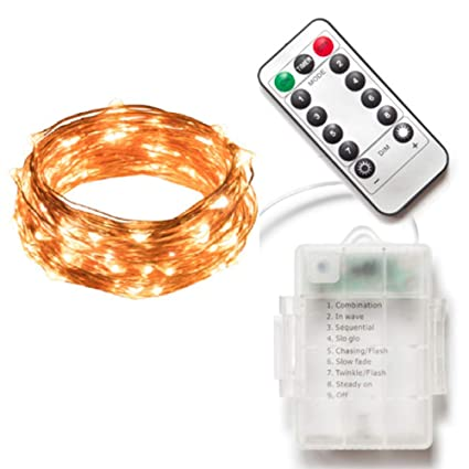 Fairy String Lights 33ft 100 Micro Led Firefly Twinkle Copper Wire Lights Dimmable Battery Operated With Remote Control For Christmas Bedroom Wedding