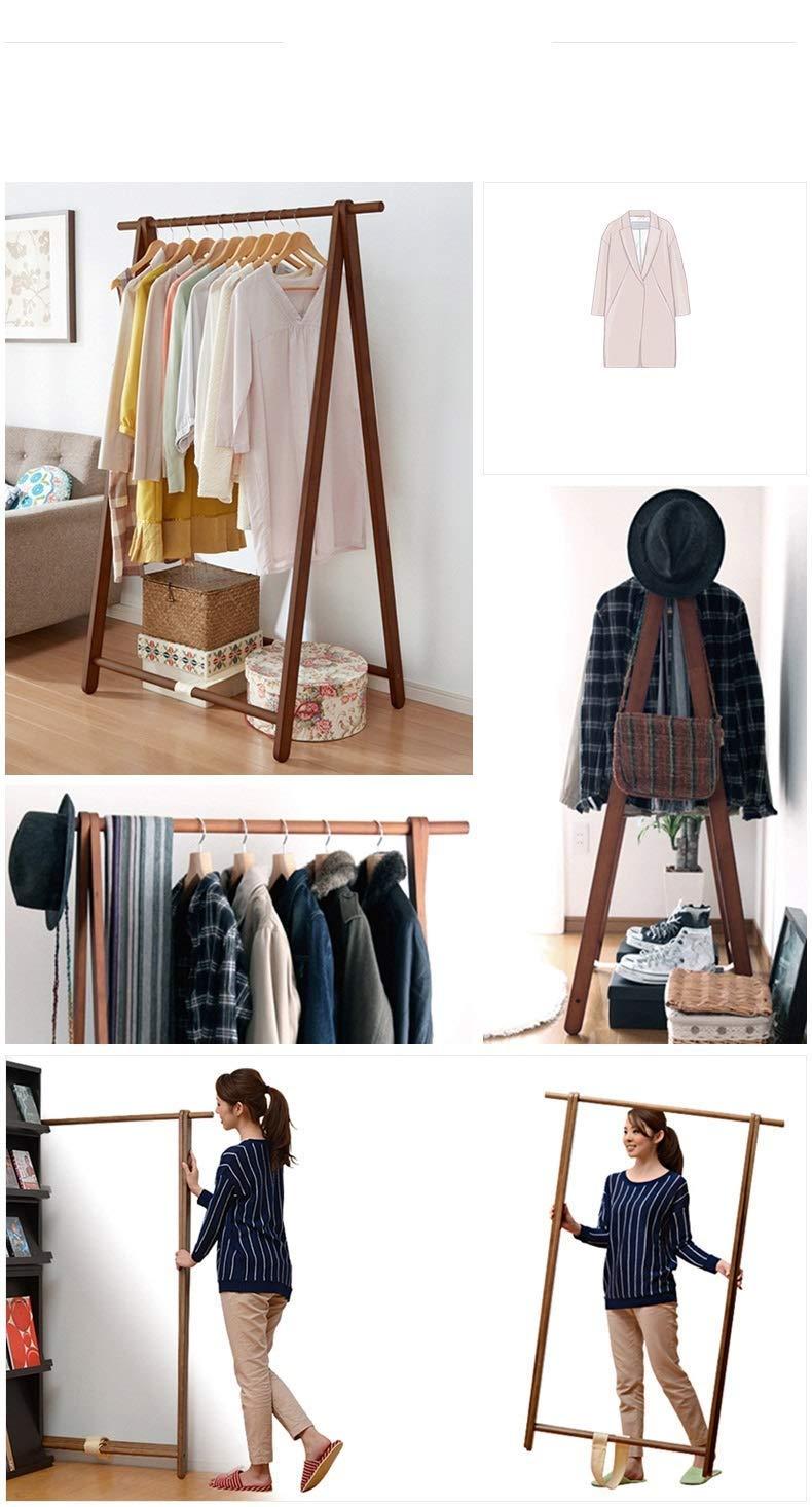 木製の現代コートの棚の簡単なコートの立場および帽子の表示折り畳み式のコートの棚、茶色 B07QNKSWLJ
