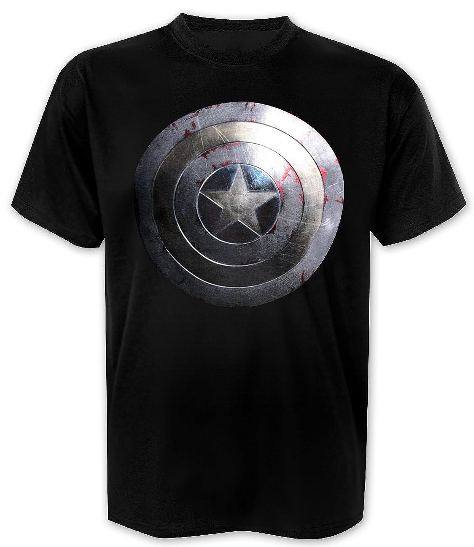 Captian America T-shirt Silver Shield