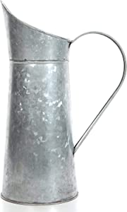 Hosley Galvanized Pitcher 14 Inch High Decorative Use Ideal Gift for Weddings Spa Flower Arrangements O3