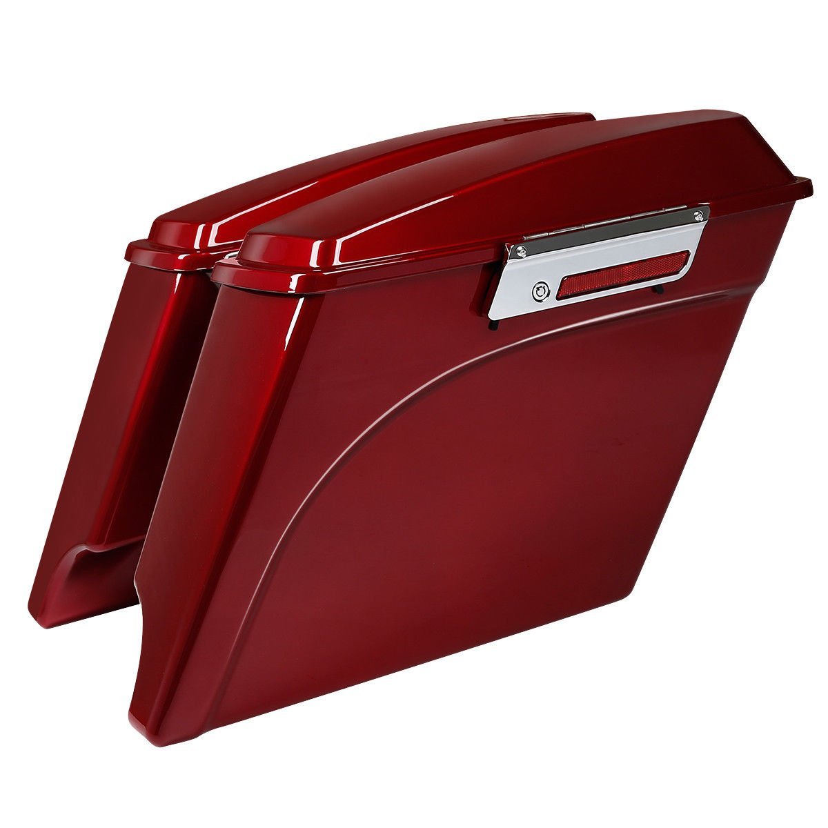 TCMT 5'' Extended Hard Saddle Bags W/Lids Fits For Harley Touring Electra Road Glide 93-13