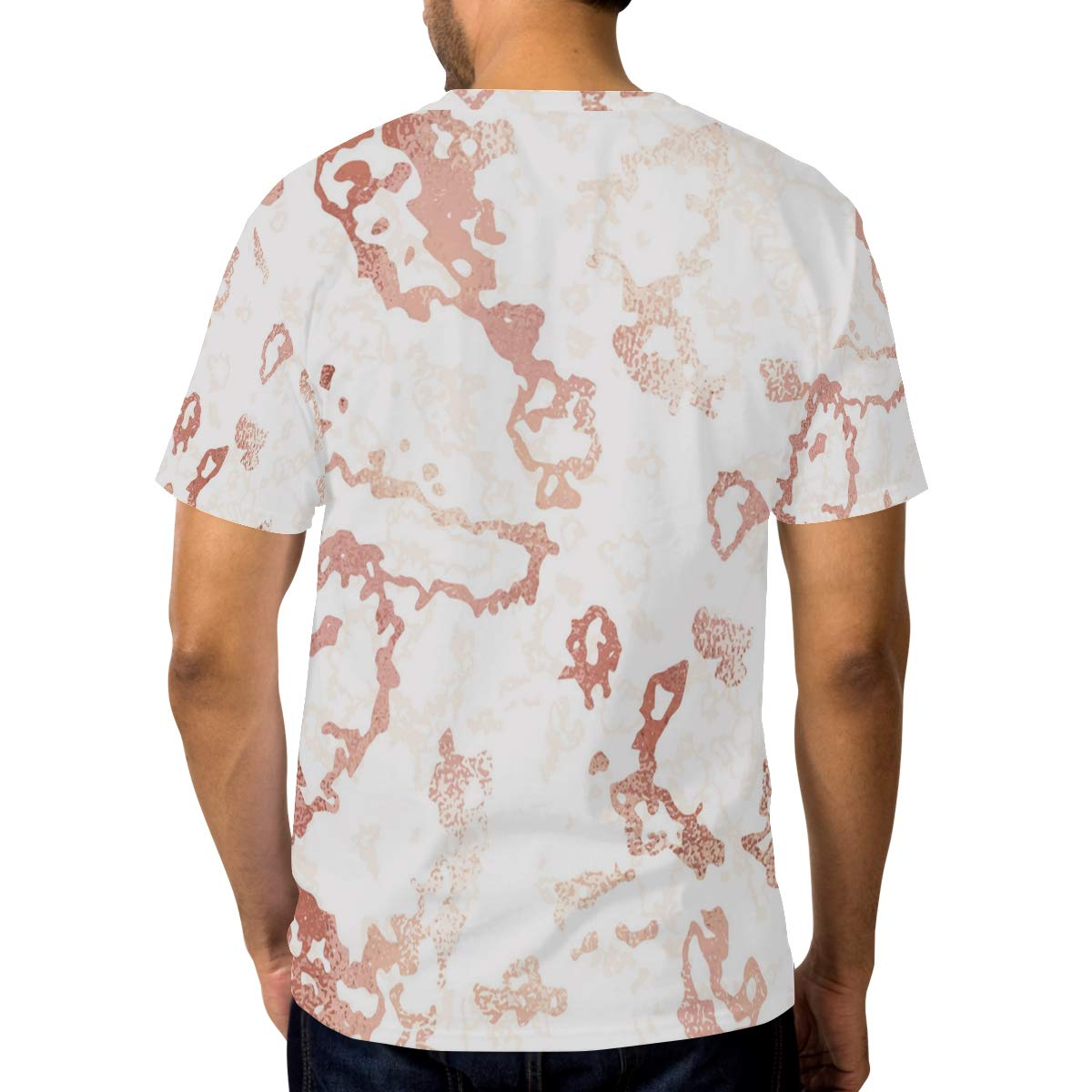Horatiood Huberyyd Time Marble Pattern Mens T Shirts Graphic Funny Body Print Short T-Shirt Unisex Pullover Blouse