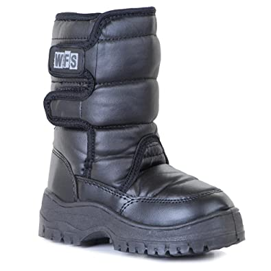 Amazon.com | WFS Black SnowJogger Deluxe After Snow Boot Kids ...