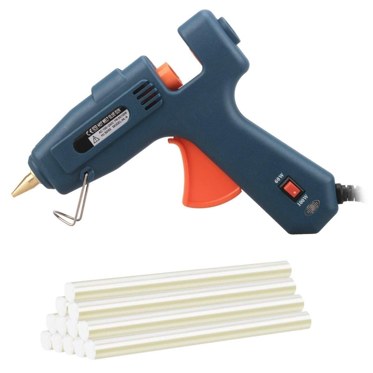 Hot Glue Guns 60W 100W Dual Power High Temperature Hot Melt Glue Gun with 10 Glue Sticks by MSLO