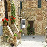 Rikki Knight RK-LSPS-2023 single Toggle Lovely Tuscan Street Design Light Switch Plate Cover