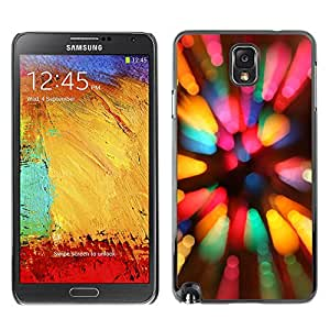 EJOY---Cubierta de la caja de protección la piel dura para el / Samsung Note 3 N9000 / --Arco iris de la cámara de la llamarada