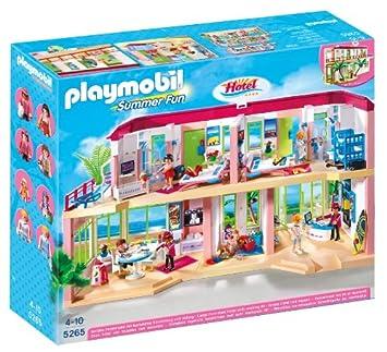 Playmobil 5265 Summer Fun Large Furnished Hotel Amazoncouk Toys