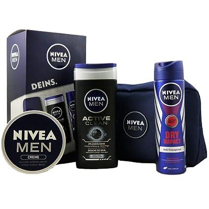 dd22fed97 Set de regalo Nivea Men de 4 piezas. 1 neceser - 1 crema para hombre ...