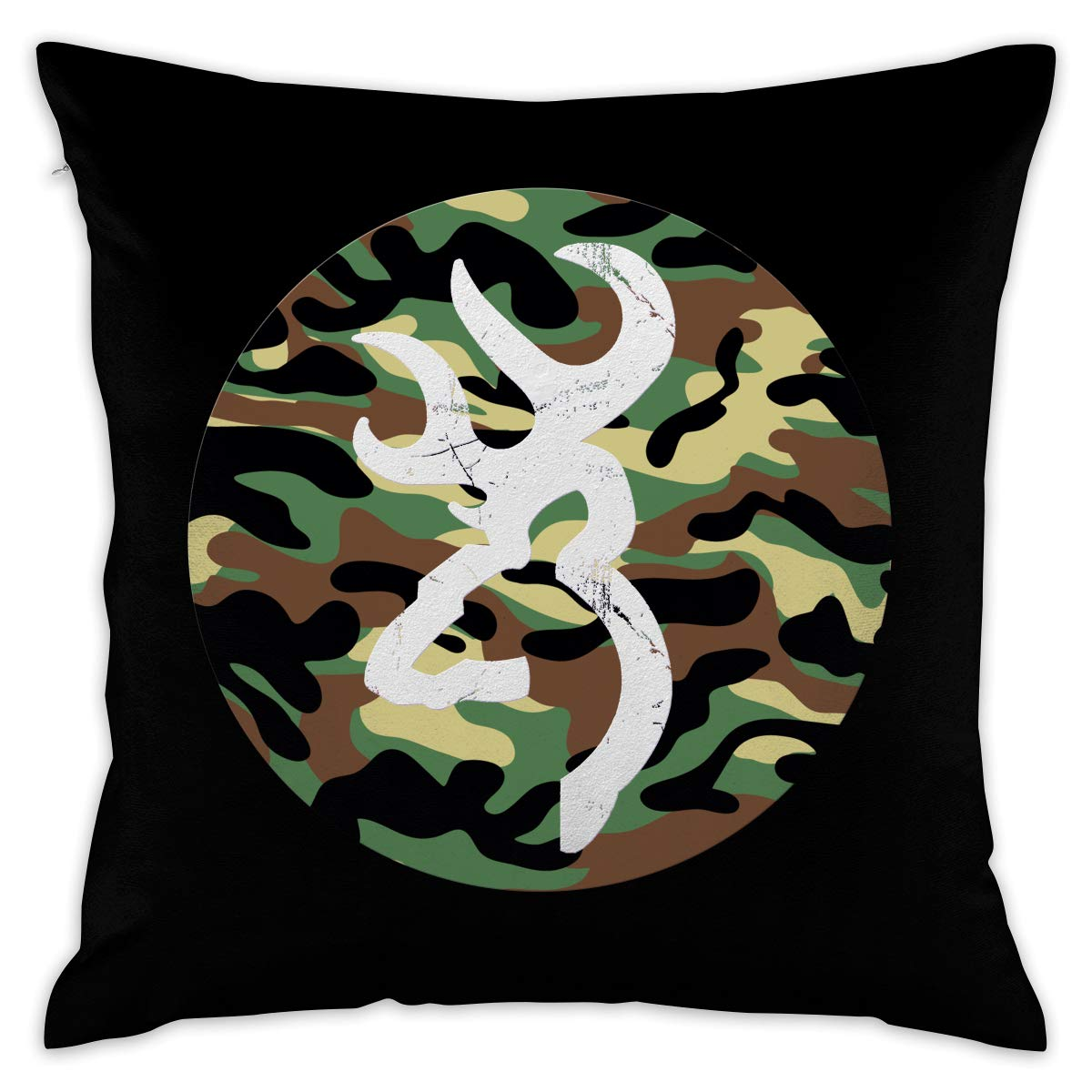 Amazon com amonee decorative throw pillow case cushion cover 18x18 camouflage deer cotton modern square covers for couch bed sofa home decor home