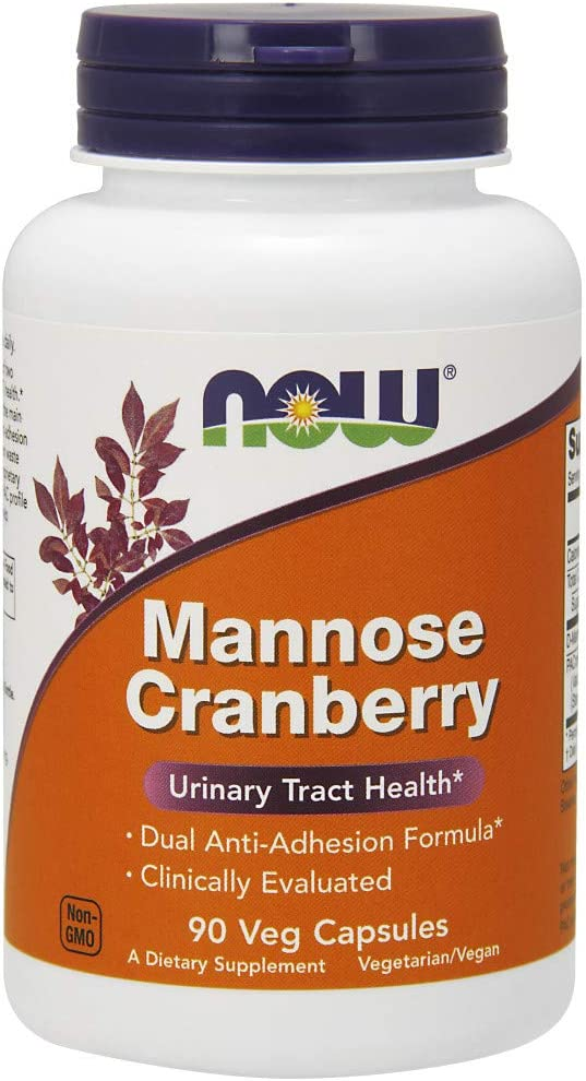 NOW Supplements, Mannose Cranberry, Dual Action Formula*, Clinically Evaluated, Urinary Tract Health*, 90 Veg Capsules