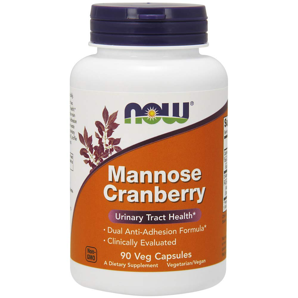 NOW Supplements, Mannose Cranberry, Clinically Evaluated, 90 Veg Capsules