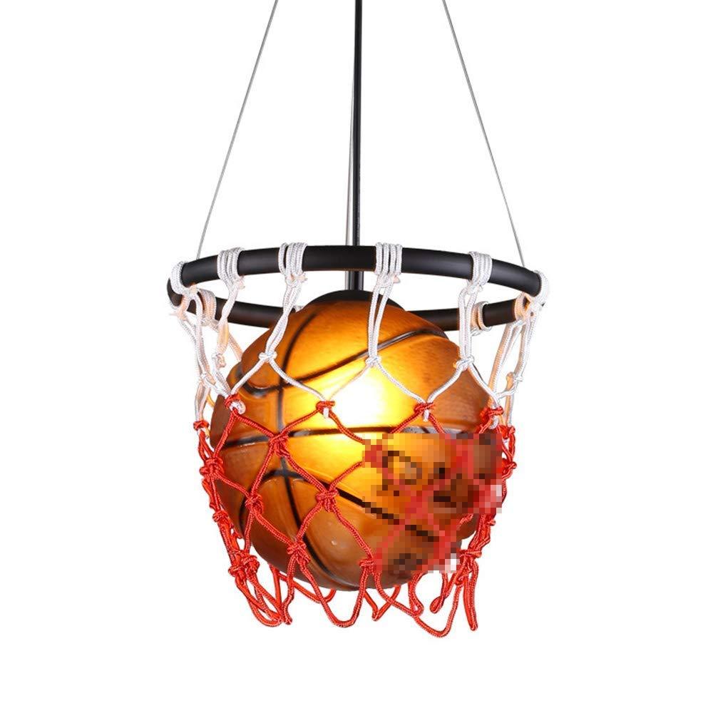 Kreative Basketball Pendelleuchte Glas Lampenschirm Kronleuchter mit E27 Lampenfassung