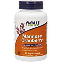 NOW Supplements, Mannose Cranberry, Dual Action Formula*, Clinically Evaluated,...