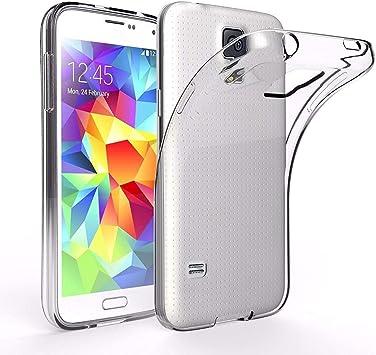 ivoler Funda Carcasa Gel Transparente Compatible con Samsung Galaxy S5 Mini, Ultra Fina 0,33mm, Silicona TPU de Alta Resistencia y Flexibilidad: Amazon.es: Electrónica