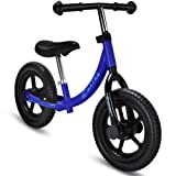 Maxtra 12in Balance Bike Lightweight Sports No Pedal Walking Bicycle with Adjustable Handlebar and Seat for Ages 2 to 5 Years Old