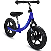 Maxtra 12in Balance Bike Lightweight Sports No Pedal Walking Bicycle with  Adjustable Handlebar and Seat for