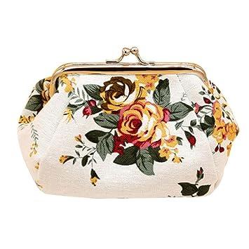 Carteras Para mujer Vovotrade Mujer retro flor pequeña cartera (Blanco): Amazon.es: Equipaje