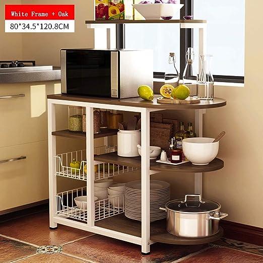 Estante de almacenamiento de 4 niveles para la cocina Horno de ...