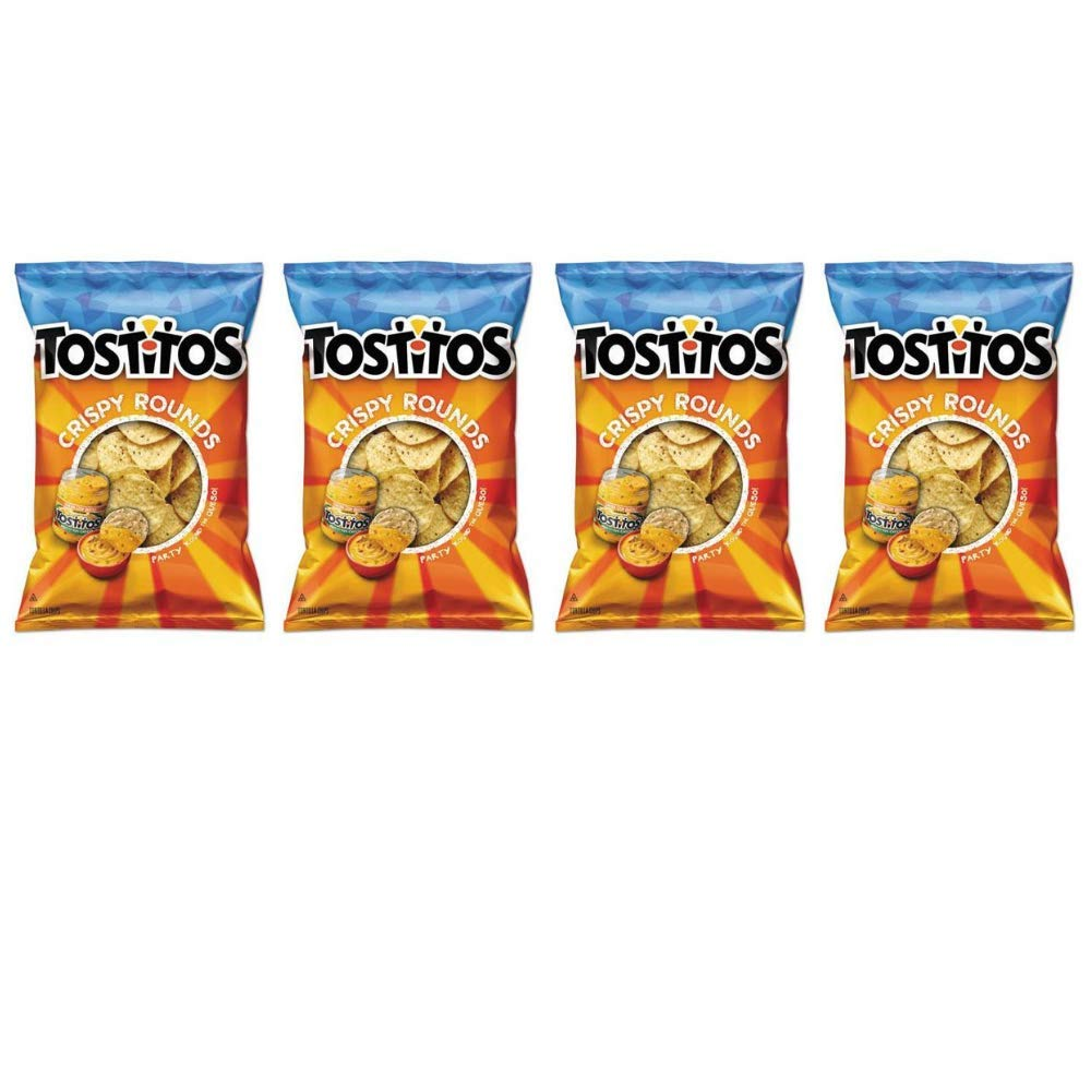 Tostitos Crispy Rounds Tortilla Chips, 28 count of 3 oz. bags - Pack of 4 by Tostitos