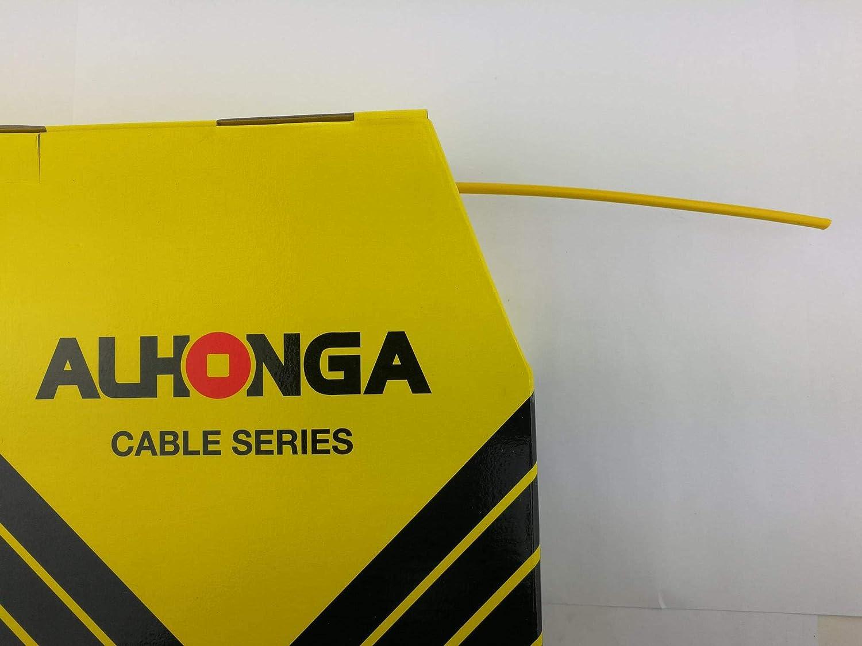 ALHONGA Fahrrad Au/ßenh/ülle Schaltung Schaltzugh/ülle 4mm gelb 2 Meter