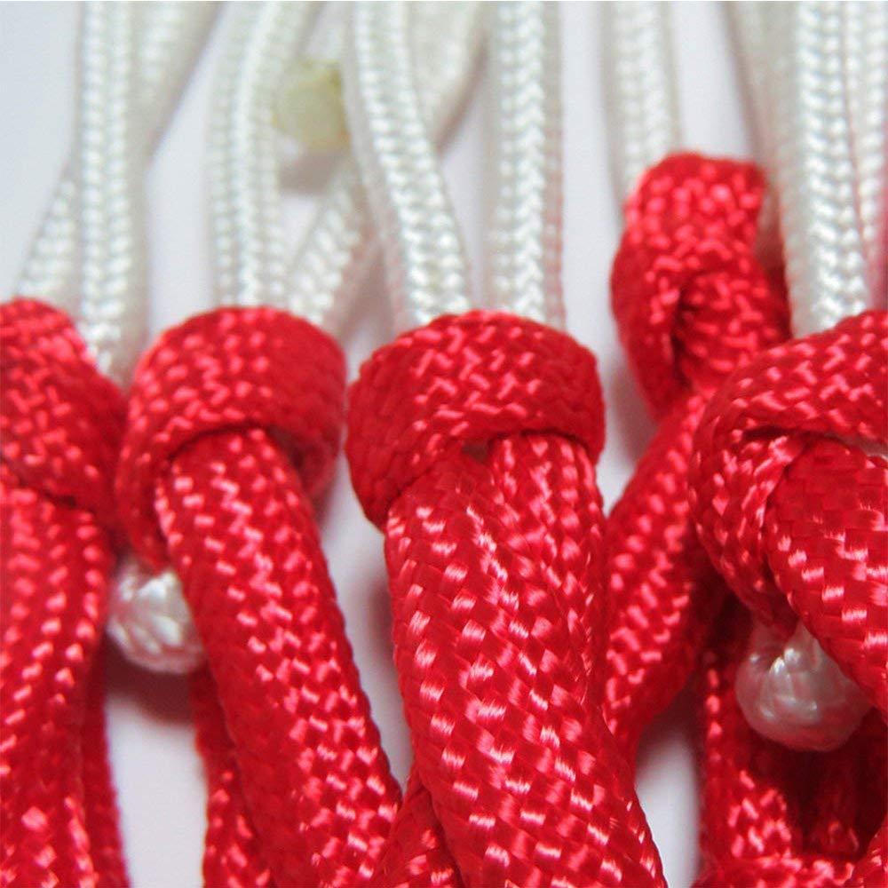 Ogquaton Basketball Net Bold Alarga Nylon Duradero Basketball Net Juego Est/ándar Red de Juego 2 Piezas Rojo//Blanco