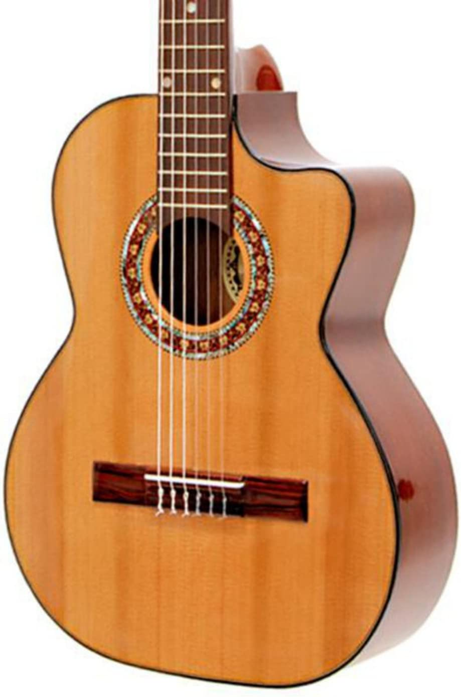 paracho Elite Guitarra Gonzales Requinto 6 cuerdas Natural: Amazon ...