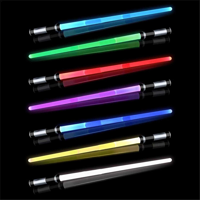 Lightsaber Scolorimento Telescopico Doppia Sciabola Star Wars Scream Saber Spada Laser Giocattolo Elettronica Con Effetti Sonori 2 Pz Multicolore Spada Laser Giocattolo 43~81CM