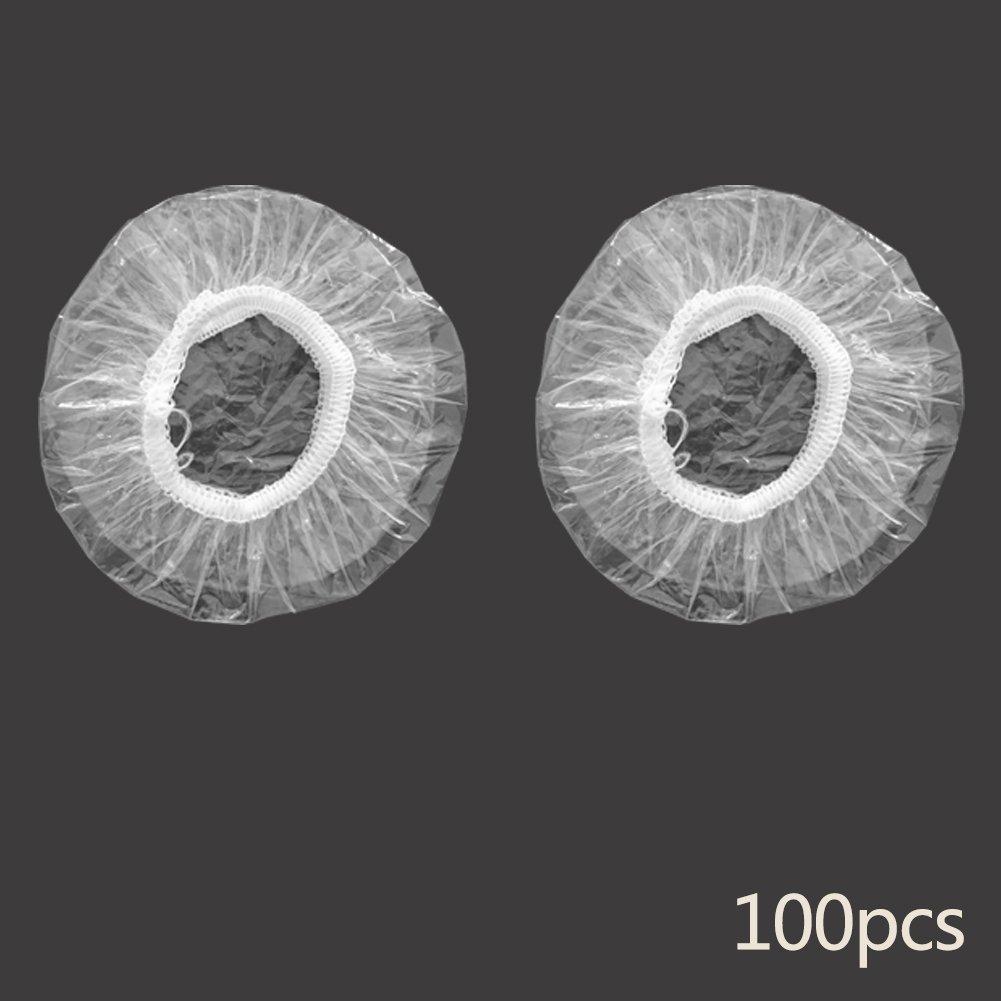 Tookie - 100 almohadillas desechables para el pelo impermeables y transparentes, para proteger las orejas del agua cuando se ducha, lavado, coloración del cabello y tratamiento químico, As Picture Show, 100pcs