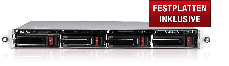 Buffalo TeraStation WS5420RN Ethernet Bastidor (1U) Negro NAS - Unidad Raid (16 TB, Unidad de Disco Duro, Unidad de Disco Duro, Serial ATA III, 4000 GB, 3.5