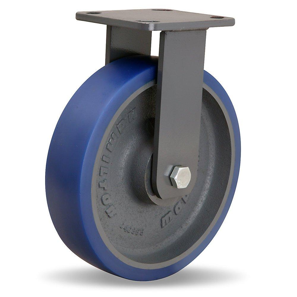 Hamilton Workhorse Caster - 8''Dia.X2''W Poly-Soft Polyurethane Wheel - 1200-Lb. Capacity - -1/2'' Sealed Precision Ball Bearings - Rigid - Blue
