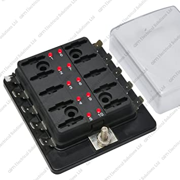 61fp2DVwW8L._SY355_ 10 way blade fuse box holder bus bar with led failure amazon co