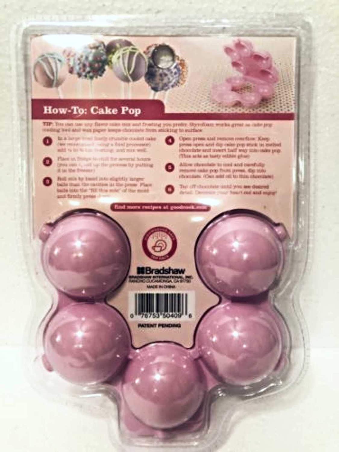 Pink Sweet Creations Round Cake Pop Press Mold