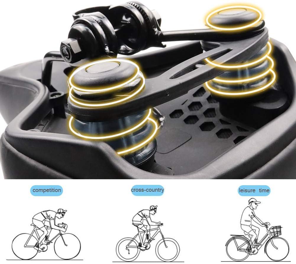 Bike Seat Universal Waterproof PU Ultra Soft Saddle Seat Cushion Double Shock Absorption